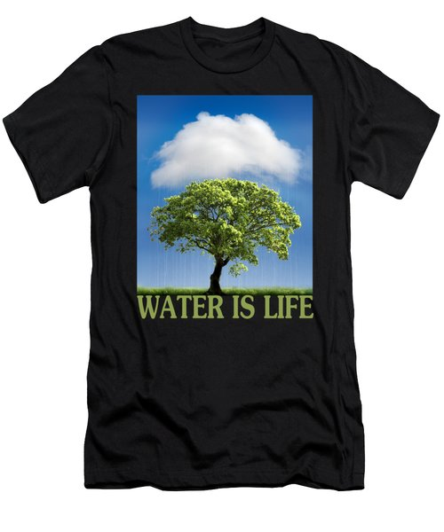Water Is Life Men's T-Shirt (Athletic Fit)