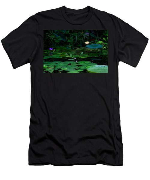 Water Lilies In The Pond Men's T-Shirt (Athletic Fit)