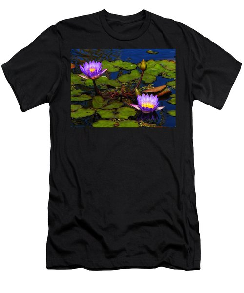 Water Lilies Iv Men's T-Shirt (Athletic Fit)