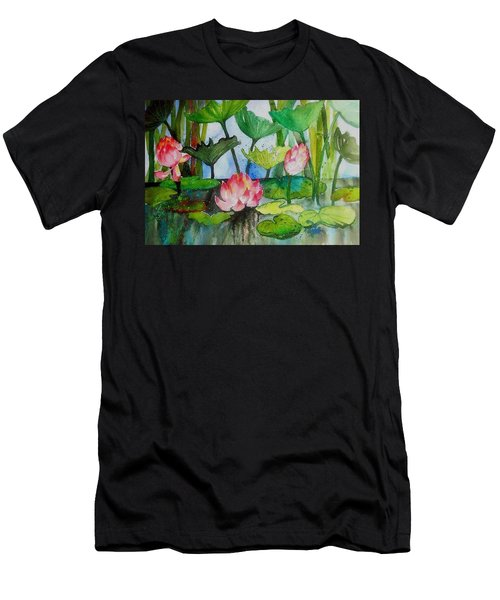 Water Lillies Two Men's T-Shirt (Athletic Fit)