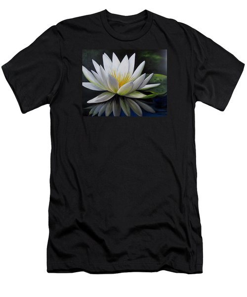 Water Lilly  Men's T-Shirt (Slim Fit) by Katia Aho