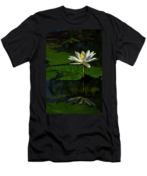Men's T-Shirt (Athletic Fit) featuring the photograph Water Lily 1 by Buddy Scott