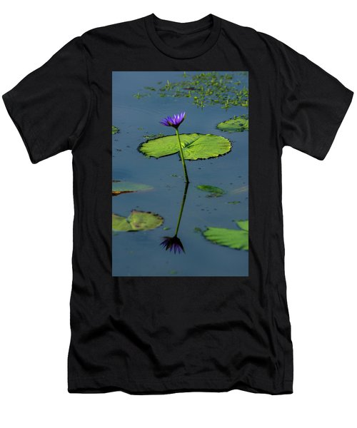 Men's T-Shirt (Athletic Fit) featuring the photograph Water Lily 2 by Buddy Scott