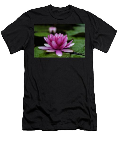 Water Lily After Rain Men's T-Shirt (Athletic Fit)