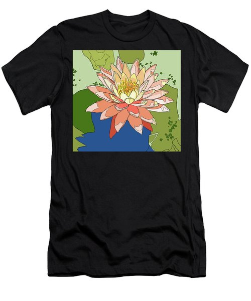 Water Lily And Duck Weed Men's T-Shirt (Athletic Fit)
