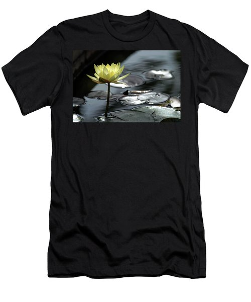 Water Lily And Silver Leaves Men's T-Shirt (Athletic Fit)