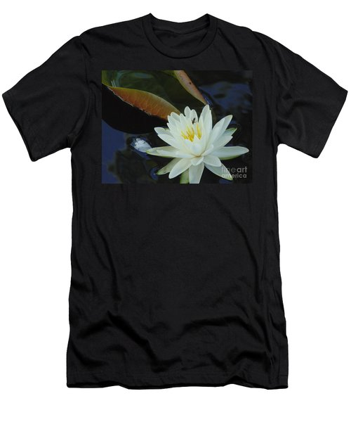 Men's T-Shirt (Slim Fit) featuring the photograph Water Lily by Daun Soden-Greene