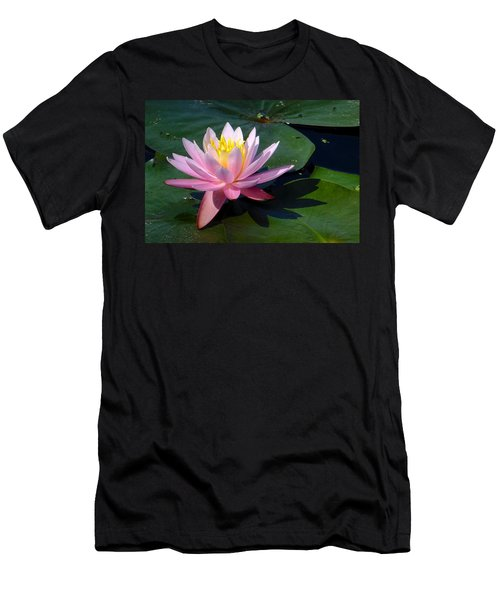 Water Lily In Mountain Lake Men's T-Shirt (Athletic Fit)