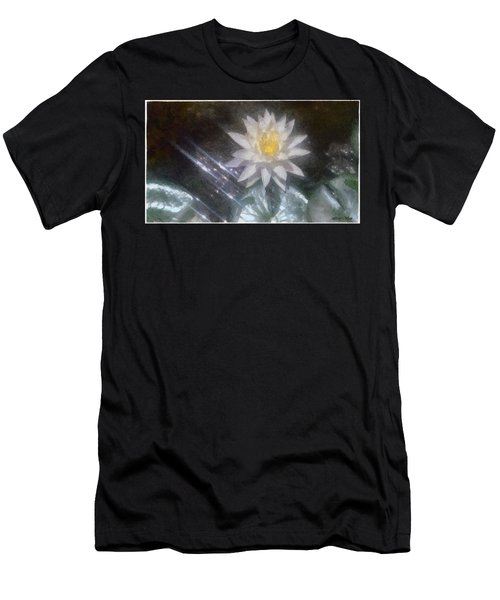Water Lily In Sunlight Men's T-Shirt (Slim Fit) by Jeff Kolker