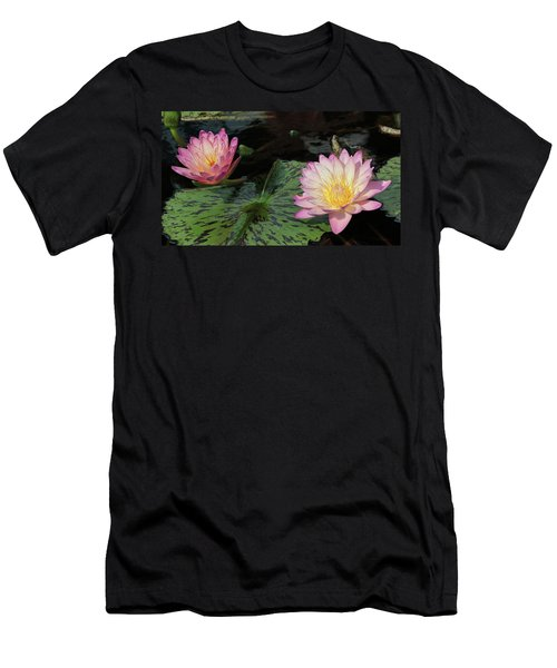 Water Lily Pair Men's T-Shirt (Athletic Fit)
