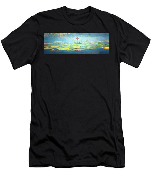 Water Lily - Tribute To Monet Men's T-Shirt (Athletic Fit)