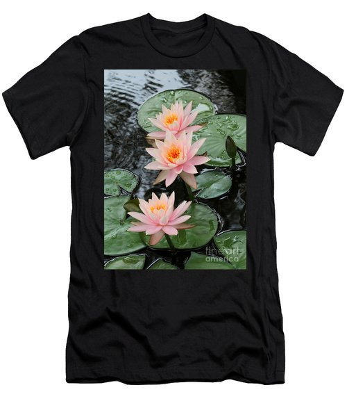 Water Lily Trio Men's T-Shirt (Athletic Fit)
