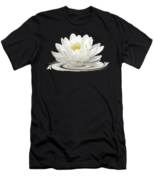 Water Lily Whirl Men's T-Shirt (Slim Fit) by Gill Billington