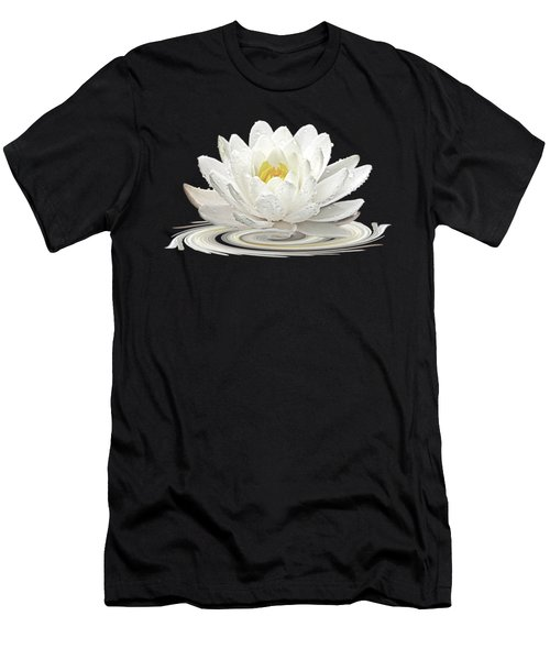 Water Lily Whirl Men's T-Shirt (Athletic Fit)