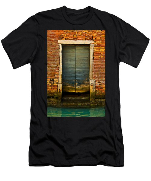 Water-logged Door Men's T-Shirt (Slim Fit) by Harry Spitz