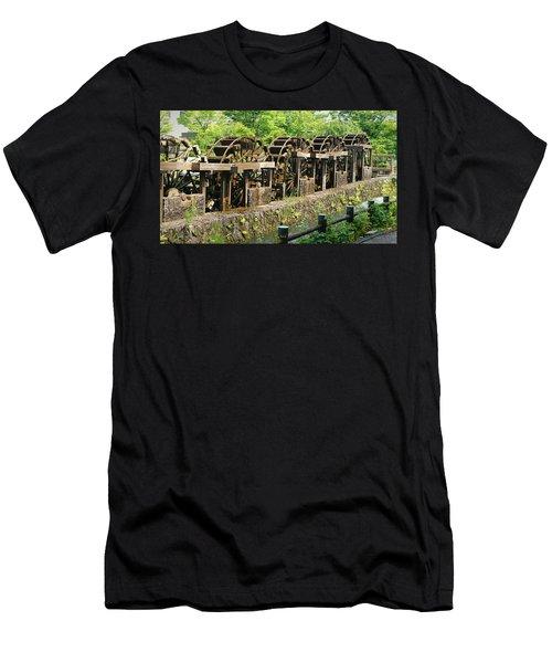 Water Wheel2 Men's T-Shirt (Athletic Fit)
