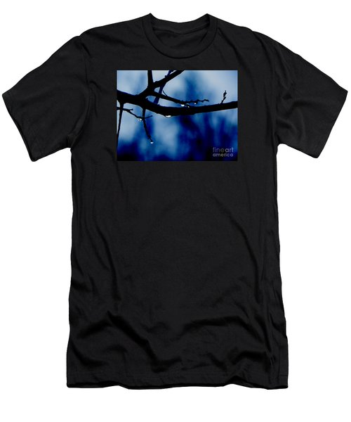 Water On Branch Men's T-Shirt (Slim Fit) by Craig Walters
