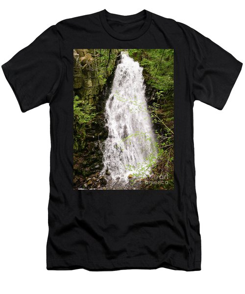 Water Roaring Down Cascade Falls, Farmington, Maine  -30377 Men's T-Shirt (Athletic Fit)