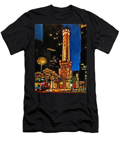 Water Tower At Night Men's T-Shirt (Athletic Fit)