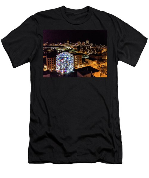 Water Tower Skyline Men's T-Shirt (Athletic Fit)