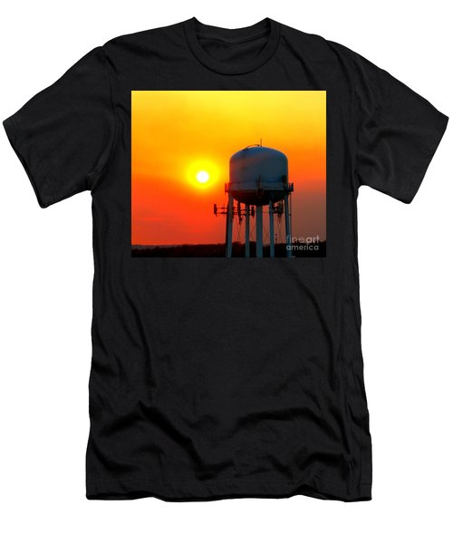 Water Tower Sunset Men's T-Shirt (Athletic Fit)