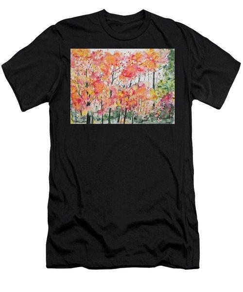 Watercolor - Autumn Forest Men's T-Shirt (Athletic Fit)