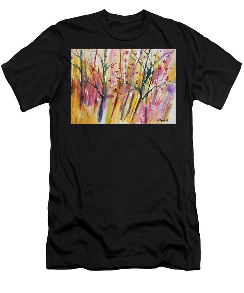 Watercolor - Autumn Forest Impression Men's T-Shirt (Athletic Fit)