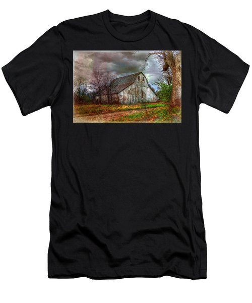 Watercolor Barn 2 Men's T-Shirt (Athletic Fit)