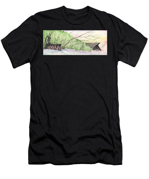 Watercolor Barn Men's T-Shirt (Athletic Fit)
