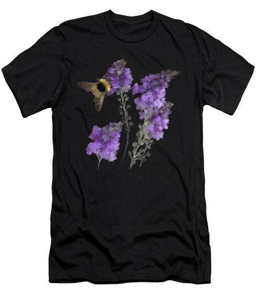 Men's T-Shirt (Athletic Fit) featuring the painting Watercolor Bumble Bee by Ivana Westin