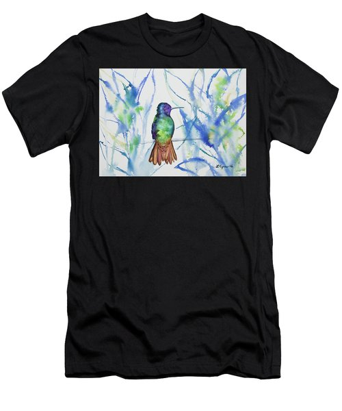 Watercolor - Golden-tailed Sapphire Men's T-Shirt (Athletic Fit)