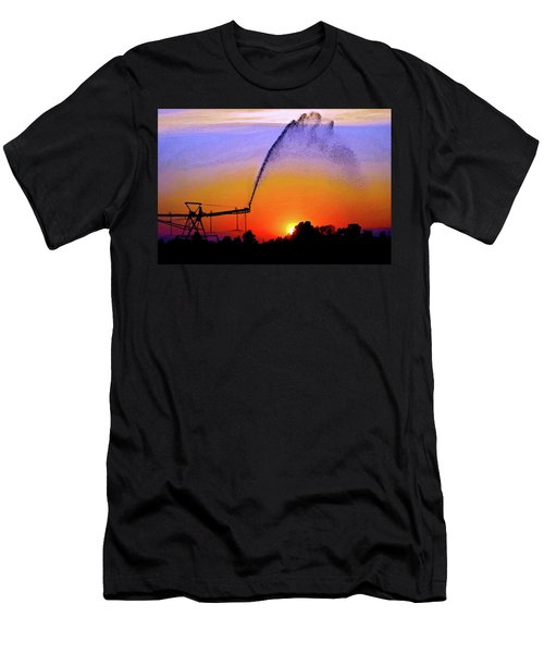 Watercolor Irrigation Sunset 3243 W_2 Men's T-Shirt (Athletic Fit)