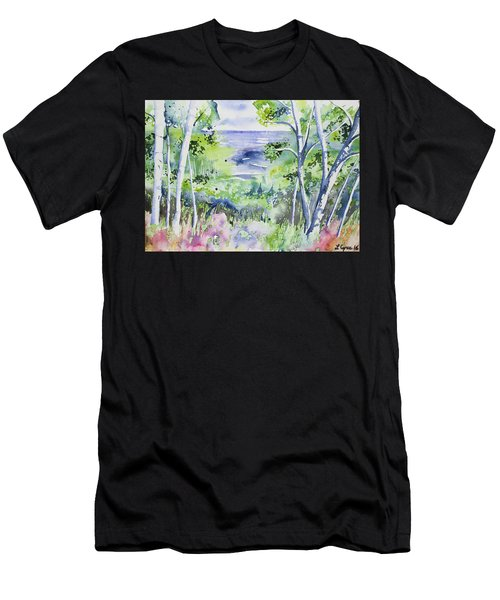 Watercolor - Lake Superior Impression Men's T-Shirt (Athletic Fit)