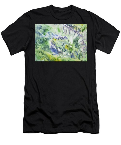 Watercolor - Leaves And Textures Of Nature Men's T-Shirt (Athletic Fit)
