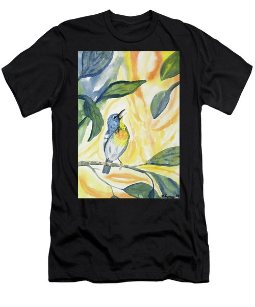 Watercolor - Northern Parula In Song Men's T-Shirt (Athletic Fit)