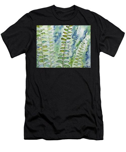 Watercolor - Rainforest Fern Impressions Men's T-Shirt (Athletic Fit)