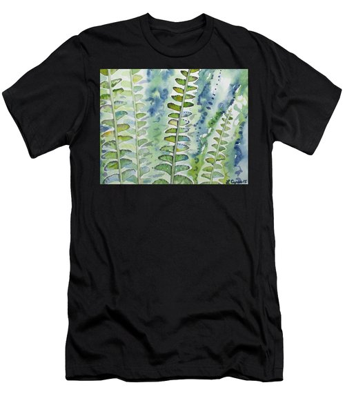 Watercolor - Rainforest Fern Impressions Men's T-Shirt (Athletic Fit)