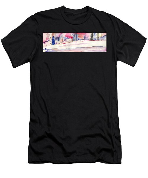 Watercolor River Men's T-Shirt (Athletic Fit)
