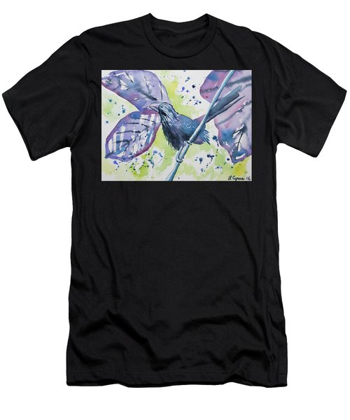 Watercolor - Smooth-billed Ani Men's T-Shirt (Athletic Fit)
