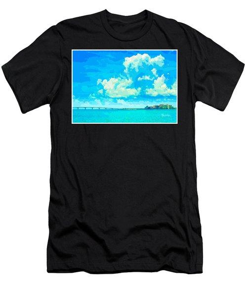Watercolor Spring On Sarasota Bay Men's T-Shirt (Athletic Fit)