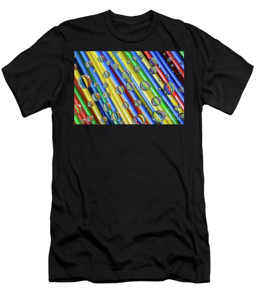 waterDroplets02 Men's T-Shirt (Athletic Fit)