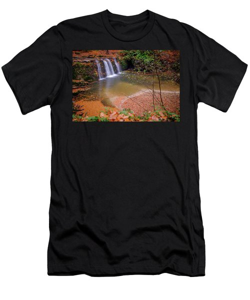 Waterfall-1 Men's T-Shirt (Athletic Fit)