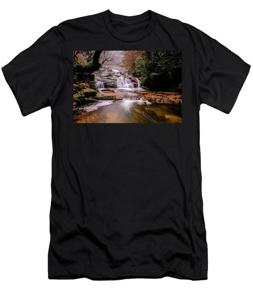 Waterfall-10 Men's T-Shirt (Athletic Fit)