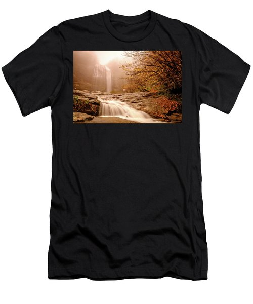 Waterfall-11 Men's T-Shirt (Athletic Fit)