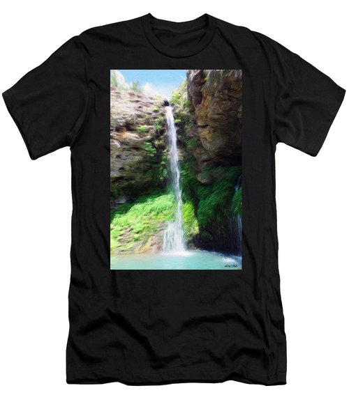 Waterfall 2 Men's T-Shirt (Slim Fit) by Jeff Kolker