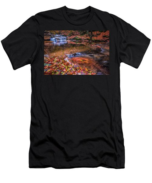 Waterfall-4 Men's T-Shirt (Athletic Fit)