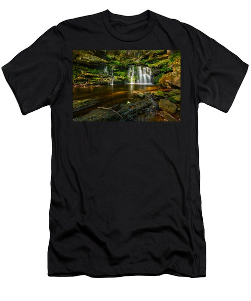 Waterfall At Day Pond State Park Men's T-Shirt (Athletic Fit)