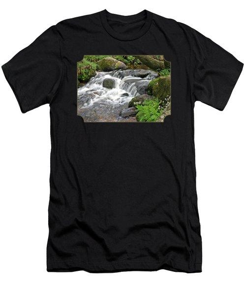 Waterfall At Hexworthy Dartmoor Men's T-Shirt (Athletic Fit)