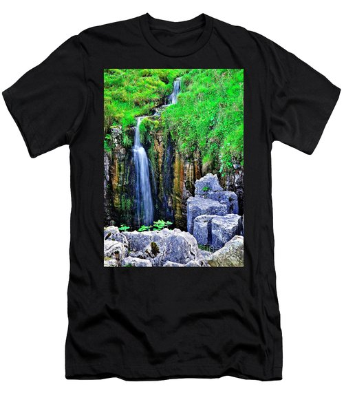 Waterfall At The Buttertubs, Swaledale Men's T-Shirt (Athletic Fit)