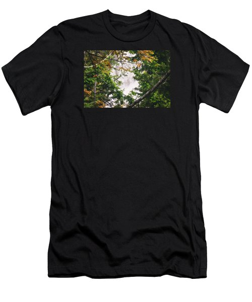Men's T-Shirt (Slim Fit) featuring the photograph Waterfall Calling My Name by Janie Johnson
